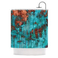 KESS InHouse Iris Lehnhardt Rusty Teal Paint Teal Shower Curtain (69x70)