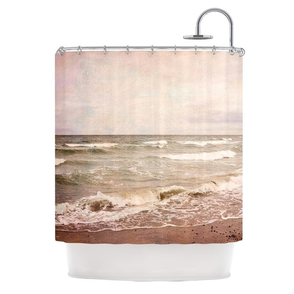 KESS InHouse Iris Lehnhardt Romantic Sea Beach Brown Shower Curtain (69x70)