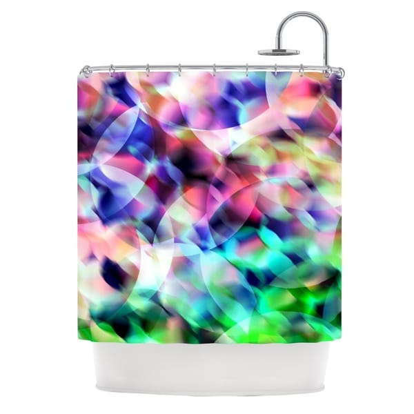 KESS InHouse Gabriela Fuente Party Pastel Abstract Shower Curtain (69x70)