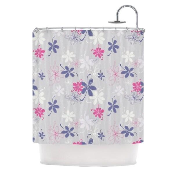 KESS InHouse Emma Frances Lively Blossoms Shower Curtain (69x70)