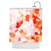 KESS InHouse Iris Lehnhardt Oooh La La Orange Pixel Multicolored Shower Curtain
