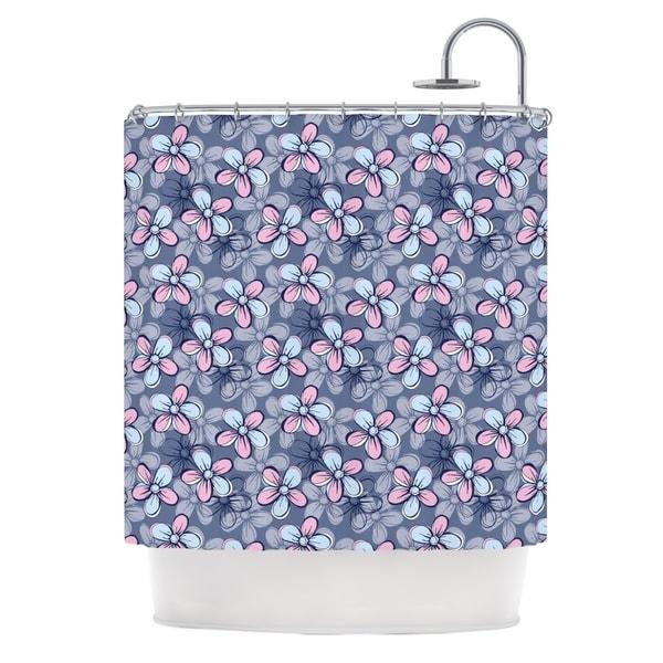 KESS InHouse Emma Frances Flower Clusters Shower Curtain (69x70)