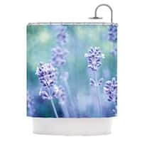 KESS InHouse Iris Lehnhardt Lavender Dream Flower Purple Shower Curtain (69x70)