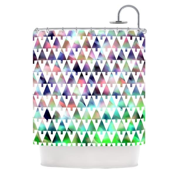 "KESS InHouse Gabriela Fuente ""X-Mas Party"" Pastel Geometric Shower Curtain (69x70) - 69 x 70"