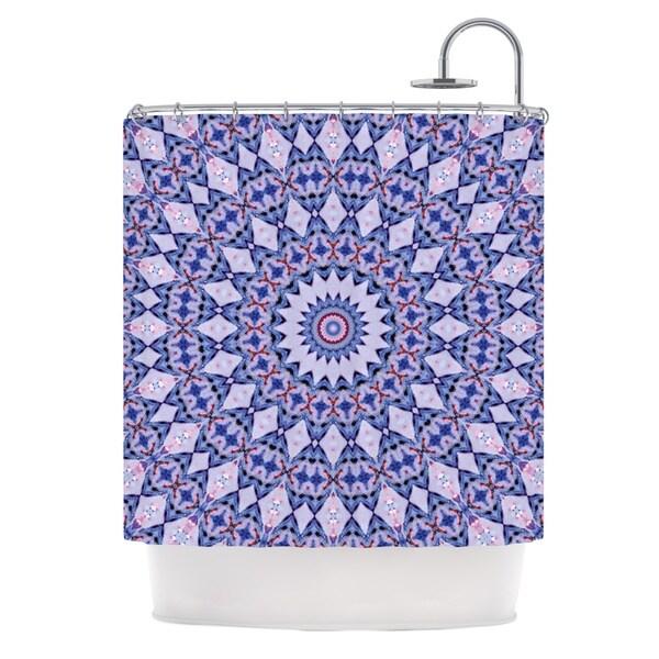 KESS InHouse Iris Lehnhardt Kaleidoscope Blue Circle Blue Shower Curtain (69x70)