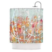 KESS InHouse Iris Lehnhardt Joy Splatter Paint Shower Curtain (69x70)