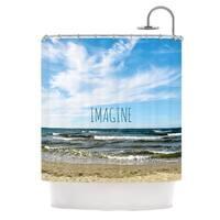 KESS InHouse Iris Lehnhardt Imagine Beach Sky Shower Curtain (69x70)