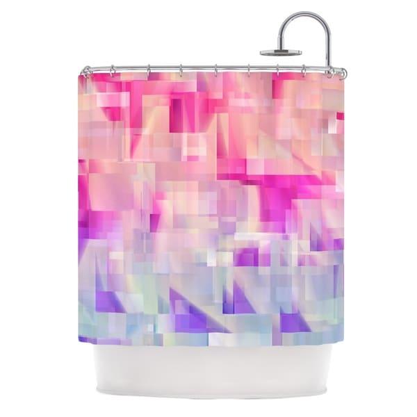 KESS InHouse Gabriela Fuente Winter Flow Pink Purple Shower Curtain (69x70)