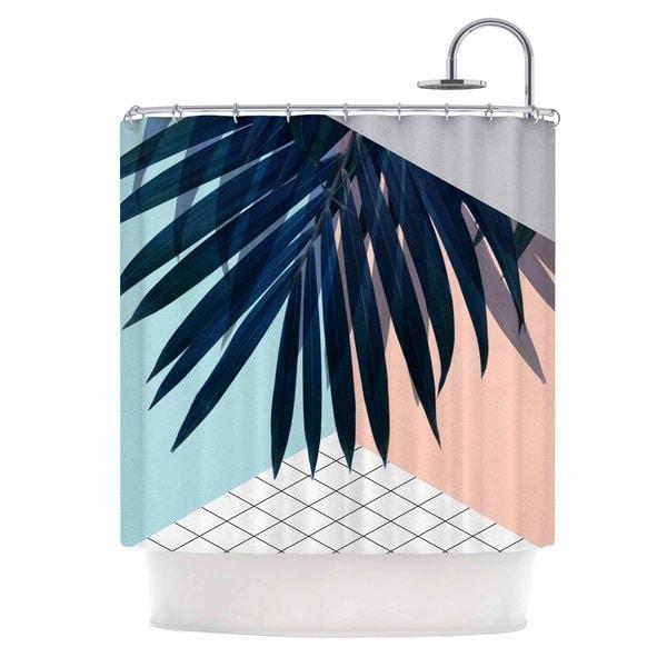 KESS InHouse Cafelab Pastel Geometry  Paech Blue Shower Curtain (69x70)