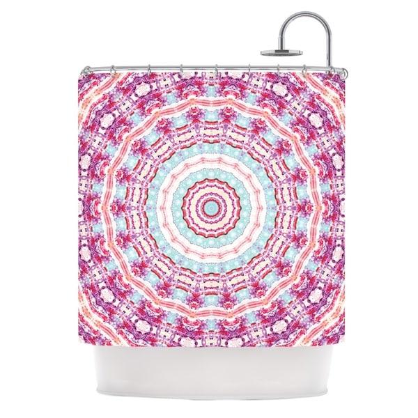 KESS InHouse Iris Lehnhardt Happy Circle Pink Shower Curtain (69x70)