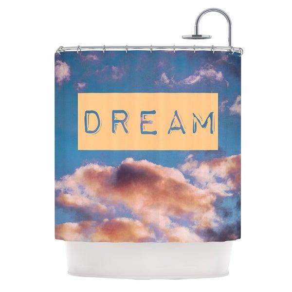 KESS InHouse Iris Lehnhardt DREAM Clouds Blue Shower Curtain (69x70)