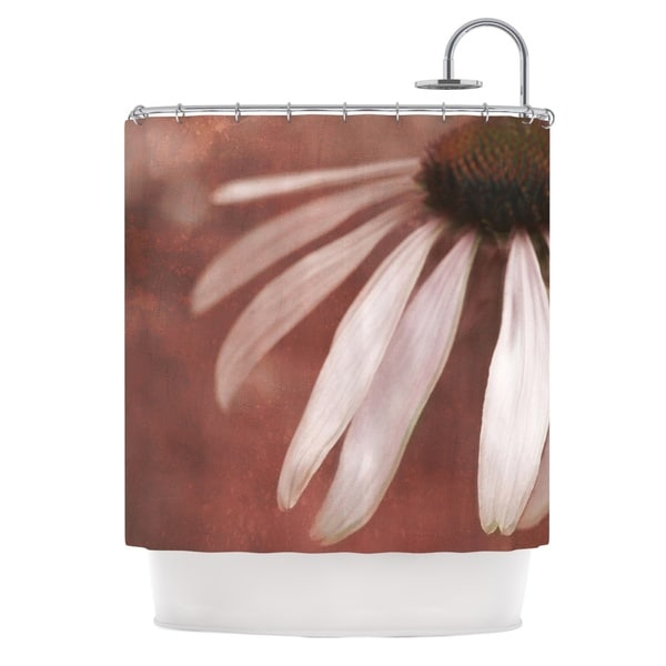 KESS InHouse Iris Lehnhardt Copper and Pale Pink Brown Flower Shower Curtain (69x70)