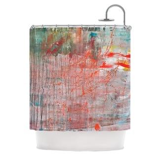 KESS InHouse Iris Lehnhardt Mots de La Terre Splatter Paint Shower Curtain (69x70)