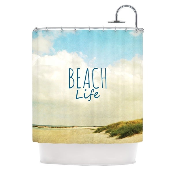 KESS InHouse Iris Lehnhardt Beach Life Beach Blue Shower Curtain (69x70)