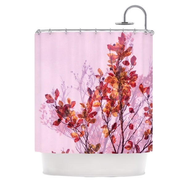 KESS InHouse Iris Lehnhardt Autumn Symphony Pink Orange Shower Curtain (69x70)