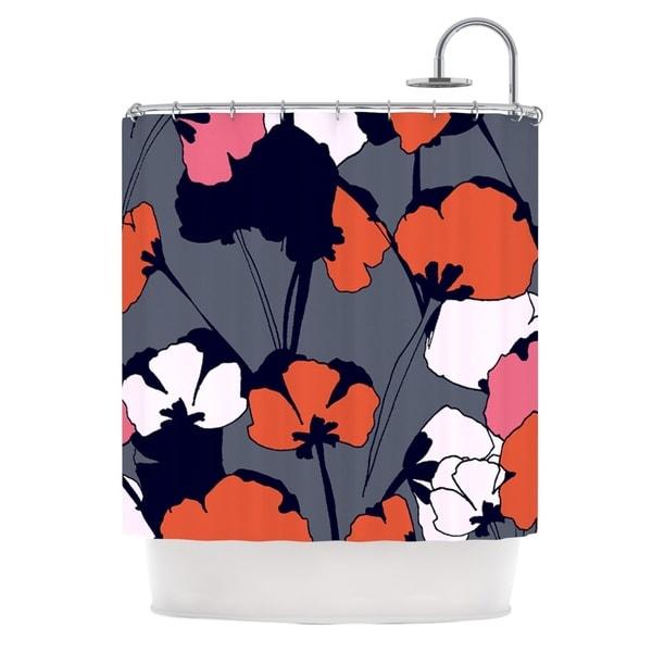 KESS InHouse Gabriela Fuente Pop Flowers Shower Curtain (69x70)