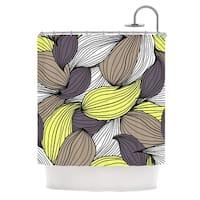 KESS InHouse Gabriela Fuente Wild Brush Shower Curtain (69x70)