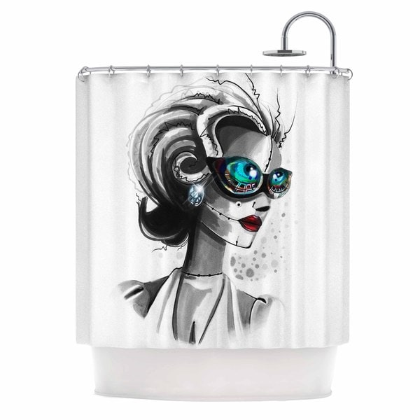 KESS InHouse Ivan Joh Miss Monroe Teal Red Shower Curtain (69x70)