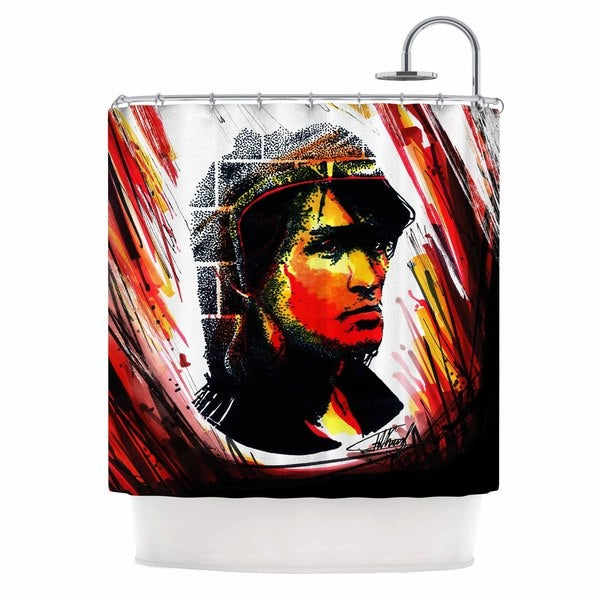 KESS InHouse Ivan Joh Tsoi Is Alive Red People Shower Curtain (69x70)