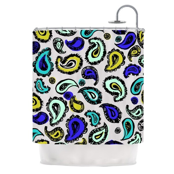 KESS InHouse Gabriela Fuente Blue Fun Shower Curtain (69x70)