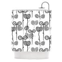 KESS InHouse Gill Eggleston Seedlings of Change White Gray Shower Curtain (69x70)
