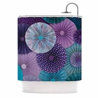 KESS InHouse Heidi Jennings Amethyst Glacier Teal Purple Shower Curtain (69x70)