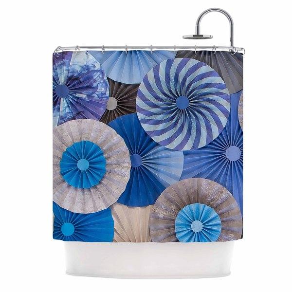 KESS InHouse Heidi Jennings Coastline Cottage Blue Gray Shower Curtain (69x70)