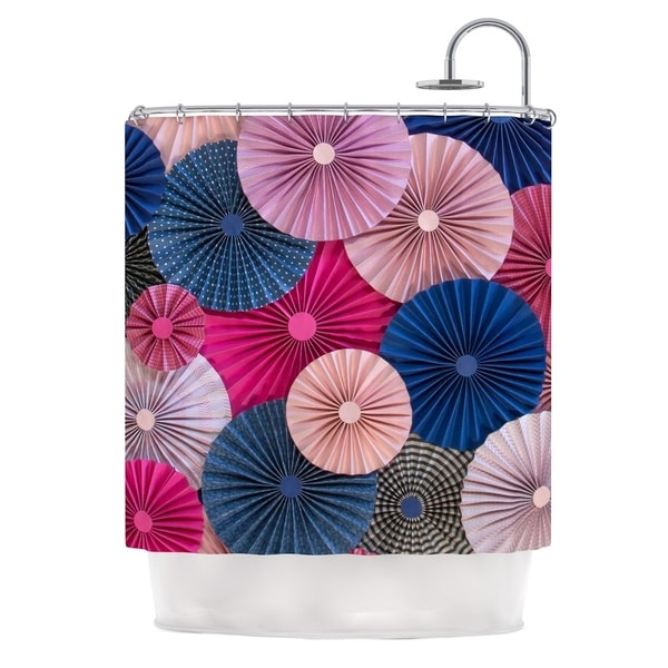 KESS InHouse Heidi Jennings Navy Pink Magenta Blue Shower Curtain (69x70)