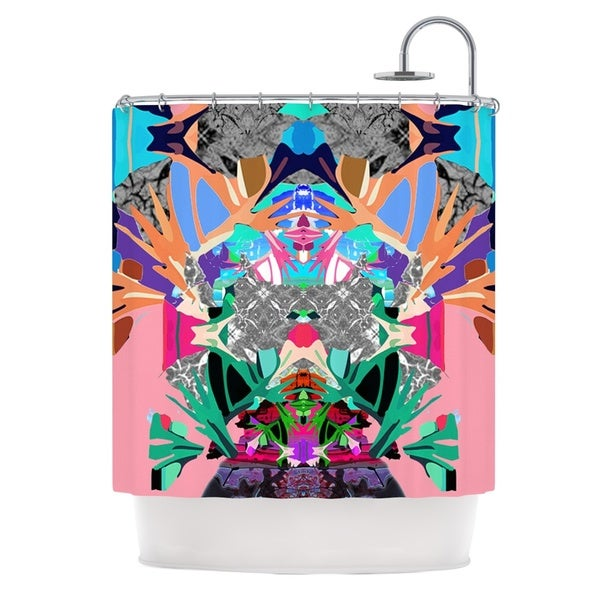KESS InHouse Danii Pollehn Japanese Rorschach Multicolor Shower Curtain (69x70)