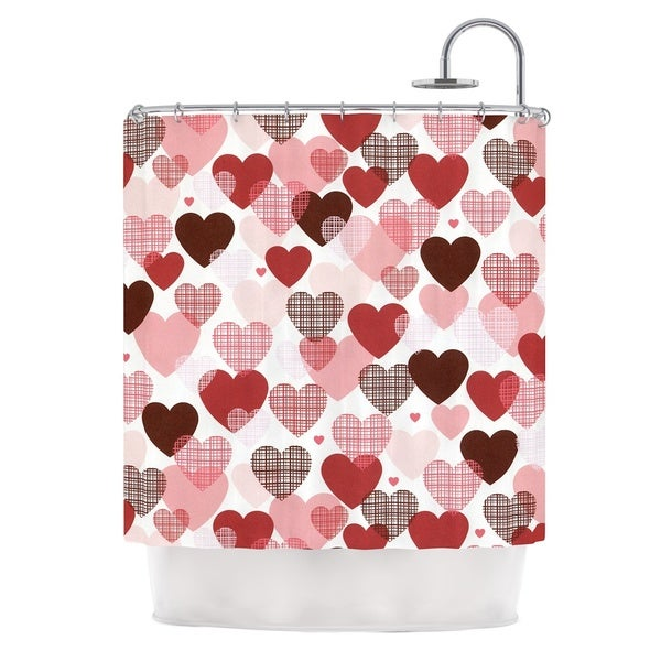KESS InHouse Heidi Jennings Love Pink Red Shower Curtain (69x70)