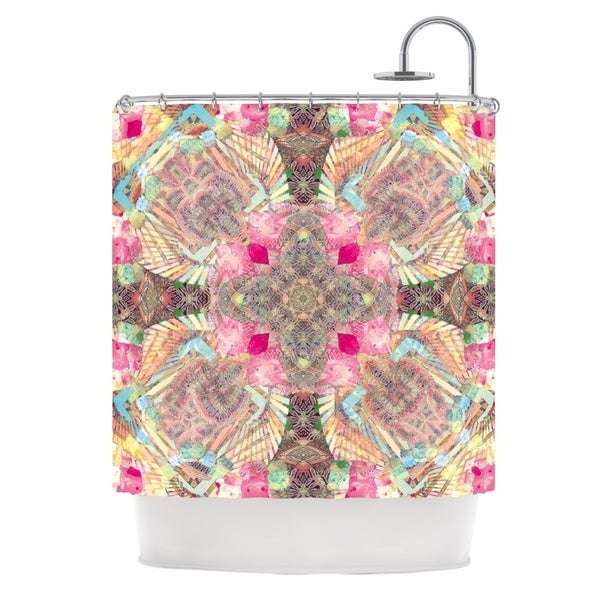 KESS InHouse Danii Pollehn Indian Clash Pink Multicolor Shower Curtain (69x70)