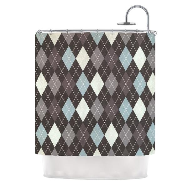 KESS InHouse Heidi Jennings Argyle Blue Gray Shower Curtain (69x70)