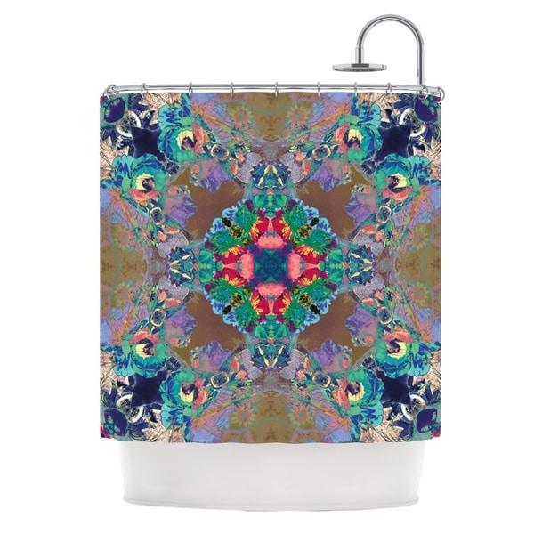KESS InHouse Danii Pollehn Flowery Floral Kaleidoscope Shower Curtain (69x70)