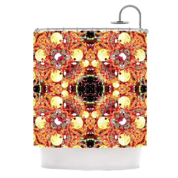 KESS InHouse Danii Pollehn China Gold Red Shower Curtain (69x70)