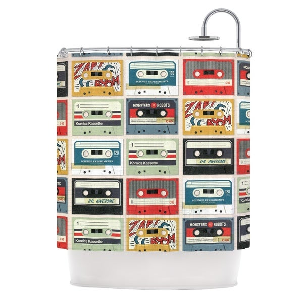 KESS InHouse Heidi Jennings Retro Tape Multicolor Shower Curtain (69x70)