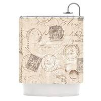 KESS InHouse Heidi Jennings World Traveler Brown Shower Curtain (69x70)
