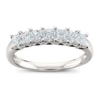 Montebello Jewelry Platinum 1ct TDW Princess-cut Wedding Band (G-H, VS2)