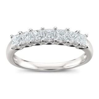 Montebello Jewelry Platinum 1ct TDW Princess-cut Wedding Band (G-H, VS2)