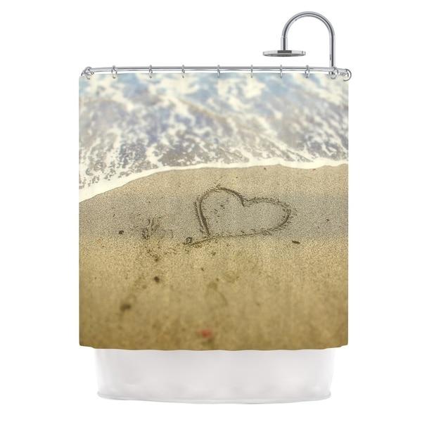 KESS InHouse Debbra Obertanec Beach Heart Sand Coastal Shower Curtain (69x70)