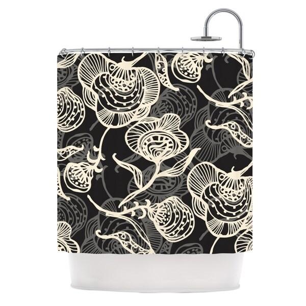 KESS InHouse Gill Eggleston Future Nouveau Lite Black White Shower Curtain (69x70)