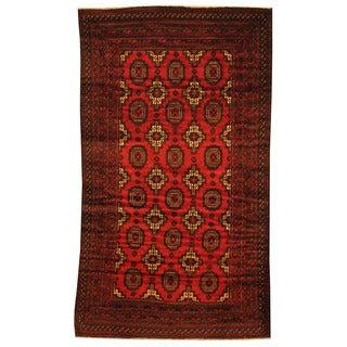 Herat Oriental Afghan Hand-knotted Tribal Balouchi Wool Rug (3'6 x 6')