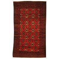 Handmade Herat Oriental Afghan Tribal Balouchi Wool Rug - 3'6 x 6' (Afghanistan)
