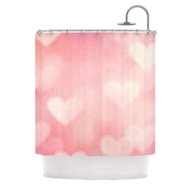 KESS InHouse Heidi Jennings Love is in the Air Pink Shower Curtain (69x70)