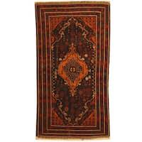 Handmade Herat Oriental Afghan Tribal Balouchi Wool Rug - 3'8 x 7'1 (Afghanistan)