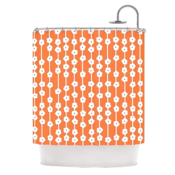 KESS InHouse Heidi Jennings Orange You Cute Tangerine White Shower Curtain (69x70)