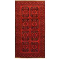 Herat Oriental Afghan Hand-knotted Tribal Balouchi Wool Rug (3'3 x 7')