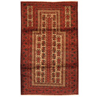 Handmade One-of-a-Kind Balouchi Wool Rug (Afghanistan) - 2'8 x 4'4