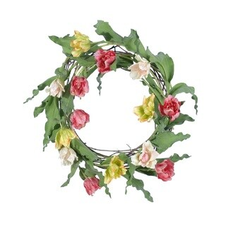 "TULIP WREATH 24"" - Green"