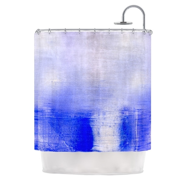 KESS InHouse Iris Lehnhardt Blue & Lavender Blue White Shower Curtain (69x70)