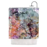 KESS InHouse Iris Lehnhardt Floating Colors Teal Brown Shower Curtain (69x70)